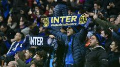 Aficionados del Inter de Milán. (AFP)