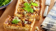 Receta de Tarta de nueces y roquefort