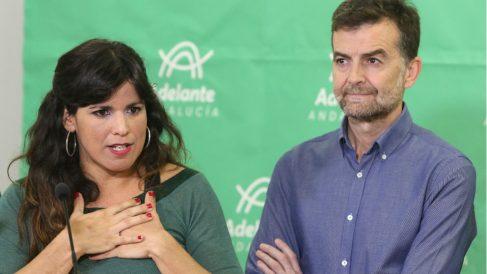 Teresa Rodríguez y Antonio Maíllo. Foto: Europa Press