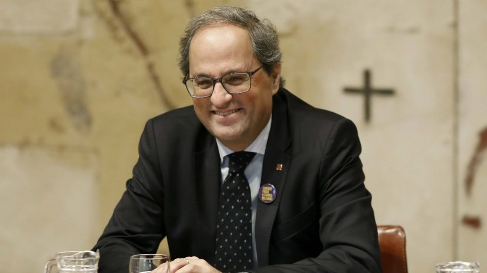 Quim Torra, presidente de la Generalitat. Foto: EFE