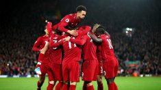 Los jugadores del Liverpool celebran un gol frente al Arsenal. (Getty)