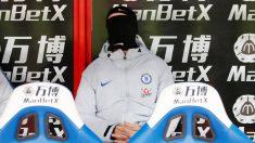 Álvaro Morata, en el banquillo del Chelsea