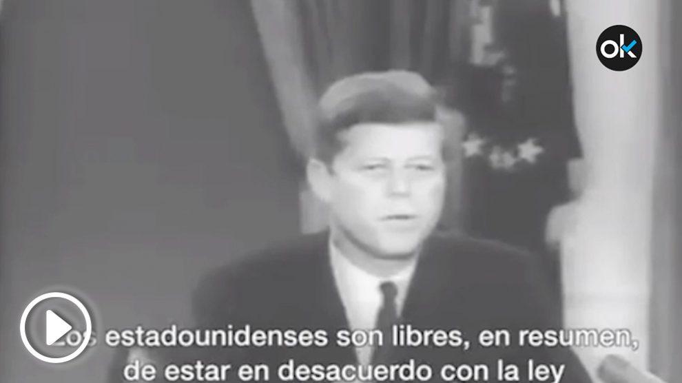 Discurso del presidente John F. Kennedy sobre los disturbios raciales de la Universidad deMississippi.