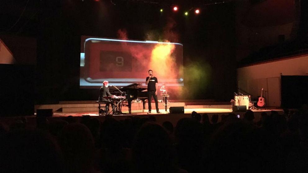 Pau Donés en un concierto en el Palau de la Música de Valencia (Foto: C.M.)