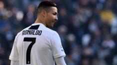 Cristiano Ronaldo, en un partido con la Juventus. (Getty)