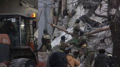 Derrumbe del edificio en Rusia. Foto: EFE