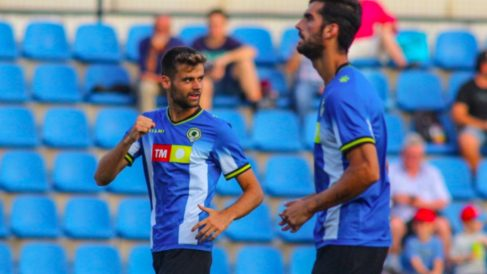Vilanova celebra un tanto con el Hércules.