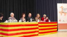 Víctor Sanchís, Empar Moliner y Anna Arqué defendiendo el pancatalanismo en Teruel