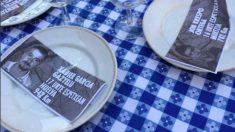 Una imagen de la 'cena' en homenaje a los asesinos de ETA en Galdácano
