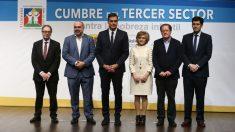 Pedro Sánchez en la inauguración de la cumbre organizada en Madrid por el Alto Comisionado contra la Pobreza Infantil. A su derecha, Pau Marí-Klose
