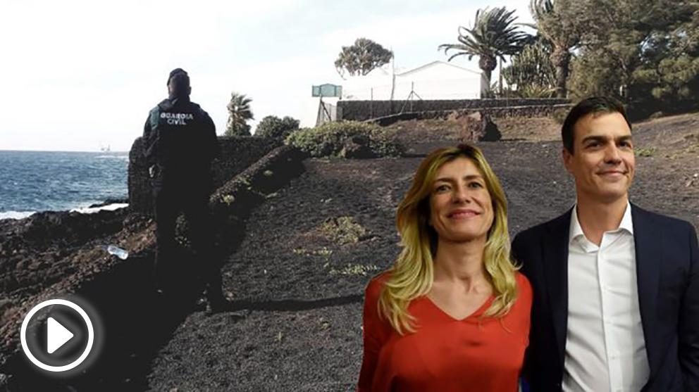 Los guardias civiles denuncian las malas condiciones en en que vigilan La Mareta, donde se hospedan Sánchez y su esposa. (Foto: AUGC/OKDIARIO)