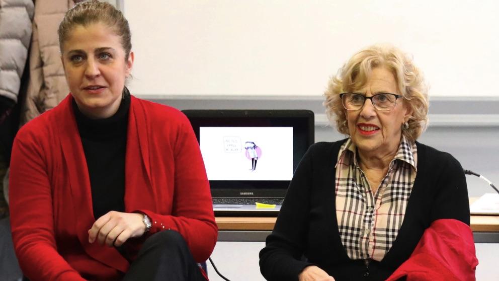 Manuela Carmena y Esther Gómez Morante, concejal de Carabanchel. (Foto. Madrid)