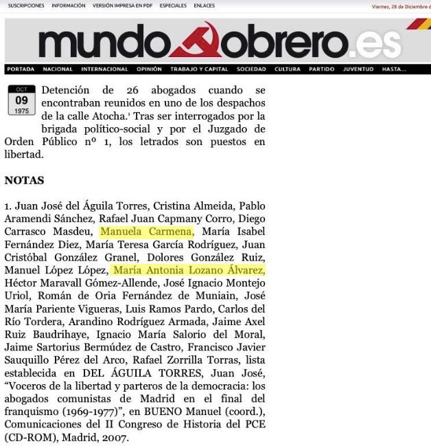 La juez de la sentencia contra Botella no pidió abstenerse pese a ser amiga de Carmena desde 1975