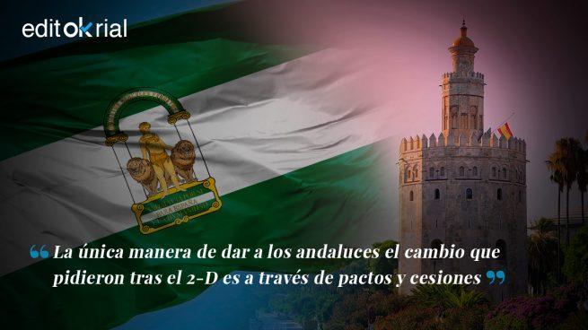 El cambio en Andalucía obliga a hacer cesiones