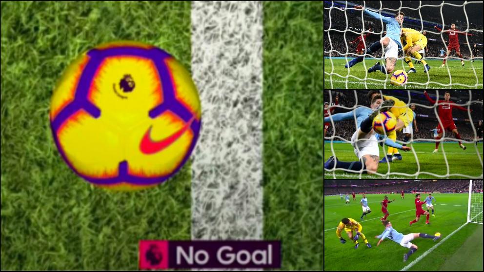 La tecnología de gol demostró que no fue gol del Liverpool.