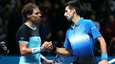 Novak Djokovic y Rafa Nadal.