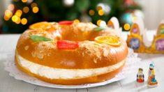 Receta de Roscón de Reyes casero relleno de crema 2019