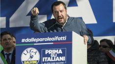 Matteo Salvini, ministro del interior italiano y reconocido seguidor del Milan. (Getty)