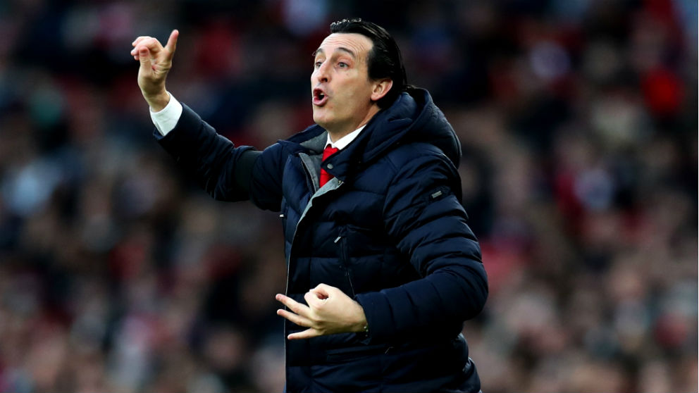 Unai Emery durante un partido con el Arsenal. (Getty)