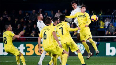 Villarreal y Real Madrid empataron a dos en el Estadio de la Cerámica. (Getty)