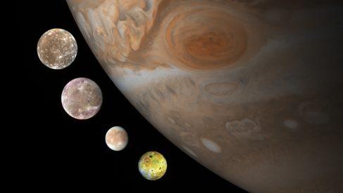 Aprende qué son las lunas galileanas de Júpiter
