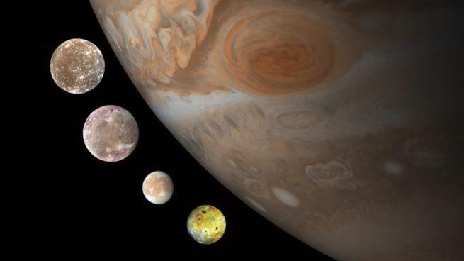 lunas galileanas de Júpiter