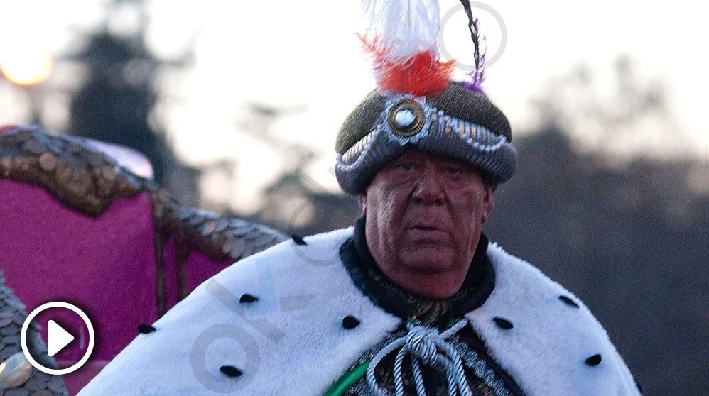 El 'rey mago' Baltasar de Ciudad Lineal. (Foto. Chema Barroso)