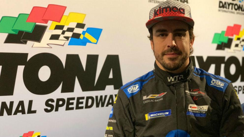 Fernando Alonso, en Daytona. (Twitter Fernando Alonso)