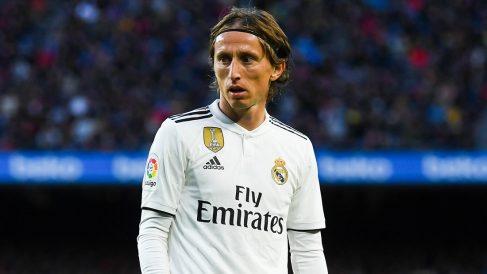 Luka Modric, durante un partido (Getty).