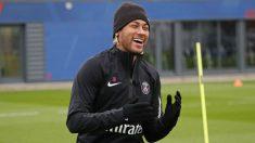 Neymar durante el entrenamiento con el PSG. (PSG)