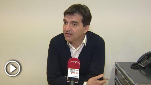 El portavoz de ERC en el Parlament, Sergi Sabrià, en una entrevista. (Foto y vídeo: EP)