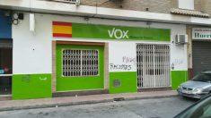 La sede de VOX en Molina de Segura (Murcia) tras el ataque de la extrema izquierda. (Foto: VOX)