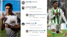 Brahim, Junior y el mensaje en Instagram.