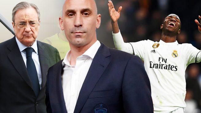 Florentino se queja oficialmente a Rubiales por el escandaloso arbitraje ante la Real Sociedad