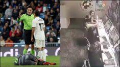 Munuera Montero chocó las manos con sus compañeros tras dar validez al gol del Eibar.