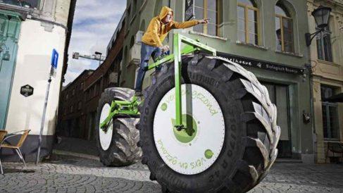 La bicicleta más pesada que rompe records Guinness.