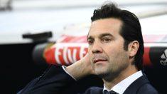 Santiago Solari, durante el encuentro ante la Real Sociedad (AFP).
