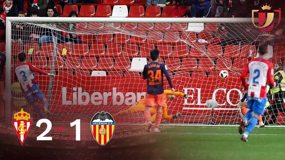 Copa del Rey: Sporting de Gijón – Valencia Partido de hoy de Copa del Rey, en directo.