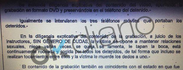 El vídeo de 'La 'Manada' de Alicante muestra que la víctima se resistió incluso a mordiscos
