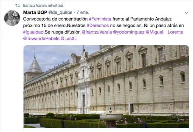 El chiringuito de una diputada del PSOE anima a rodear el Parlamento andaluz contra VOX