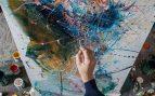 pintura sobre lienzo