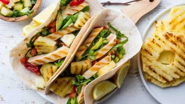 Receta De Tacos De Lechuga Con Pollo