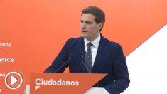 El presidente de Ciudadanos, Albert Rivera, en rueda de prensa.