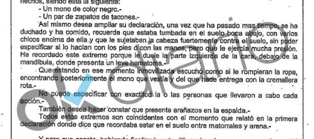 """La víctima de la 'Manada' de Alicante: """"Me apretaron la cabeza contra el suelo mientras me rasgaban la ropa"""""""