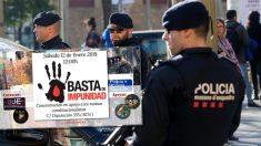 manifestación 12 enero Mossos, Policía y Guardia Civil