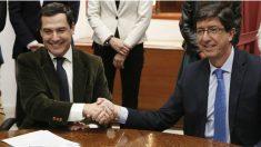 Juanma Moreno (PP) y Juan Marín (Ciudadanos).