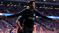 Morata celebra un gol ante el Atlético en el Wanda Metropolitano. (Getty)