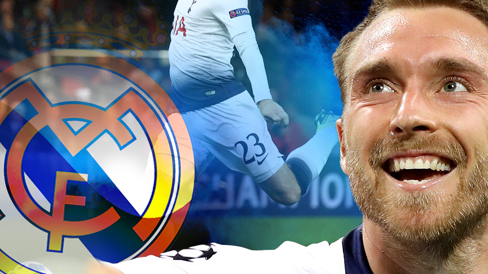 Eriksen enamoró a Zidane y a Florentino en un partido en el Bernabéu.