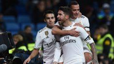 Sergio Ramos celebra el 1-0 del Real Madrid ante el Leganés. (Getty)