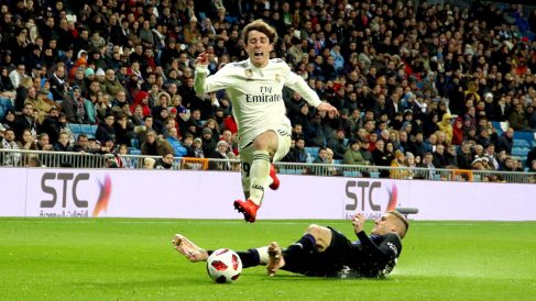 Odriozola, en el Real Madrid-Leganés de Copa del Rey. (Foto: Enrique Falcón)